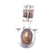Stunning Sterling and Amber Pendant