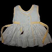 Seersucker Dress for Patti Playpal Nannette 1950s