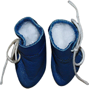 Cobalt Blue Ankle Boots for Small Dolls with Bleutte Dolls