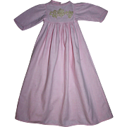Antique Pink Dress for Bisque Dolls Early 1900's