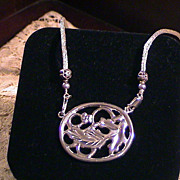 Lost Wax Cast Pendant, with 2 Necklaces - Sterling-Acanthus Leaf and Flower