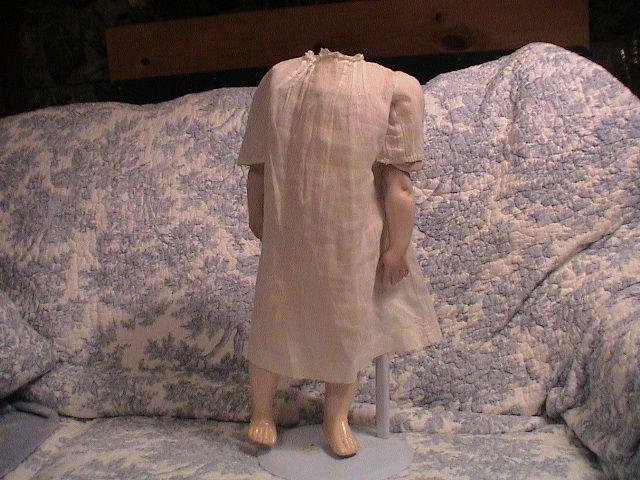 "Antique White doll Dress for 19-20"" doll"