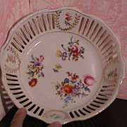 Large Slotted Floral Bowl - RW Bavaria