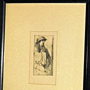 Marcella - Dry Point Etching by William Auerbach-Levy