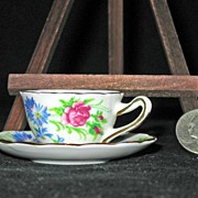 Miniature Bone China Cup and Saucer by Salisbury Crown China Co.