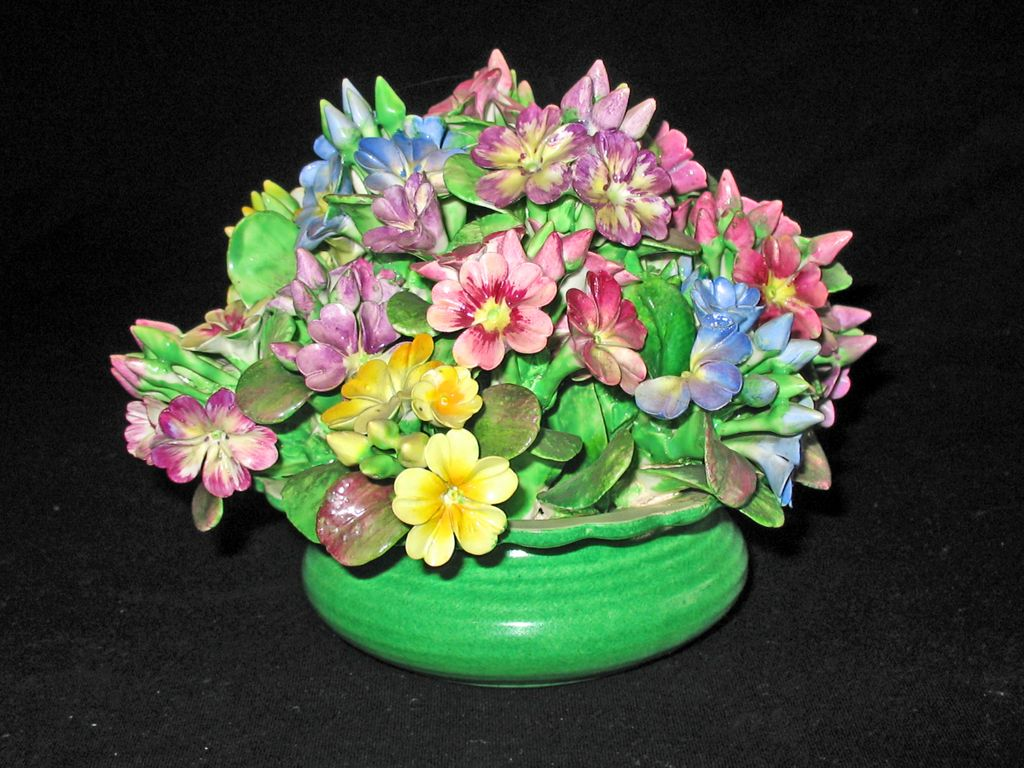 Crown Staffordshire HUGE Bouquet of Gorgeous Porcelain Flowers