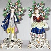 Antique 19th Century Porcelain Figure of Gallant & Lady