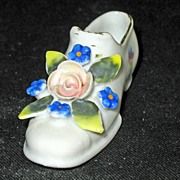 Miniature Porcelain Shoe from Japan