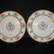 Two Gorgeous 8 ½ inch Ivory Colored Plates by Rosenthal Pattern Name: Belrose