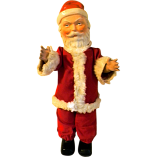 Vintage 1920's - 40's all Composition Santa Claus Doll