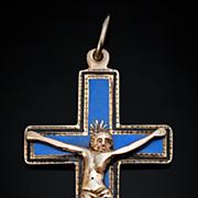 Rare c. 1811 Gold and Enamel Pectoral Cross Pendant