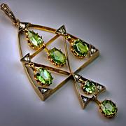 Antique Russian Demantoid Pendant