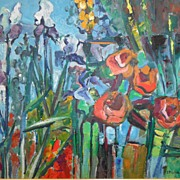 Virginia Stonebarger Floral Oil on Canvas
