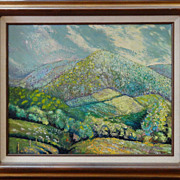 David Crown 'Honeoye Valley' signed Oil on Canvas