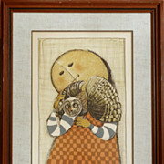 Graciela Rodo Boulanger 'Girl with Owl' Lithograph signed and numbered
