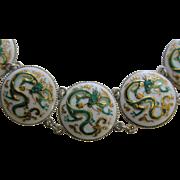 Toshikane Dragon Sterling Bracelet