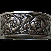 Vintage French Rose 800 Silver Bracelet