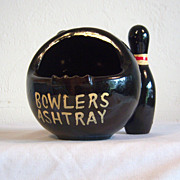 Bowler's Ashtray Handcrafted Pottery Japan 1950's