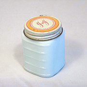 Vintage Johnson & Johnson White Milk Cosmetic Jar 1950's