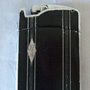 Ronson Tuxedo Cigarette Case/Lighter Combo 1930's