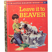 Little Golden Books Leave it to Beaver A Code First Edition 1959