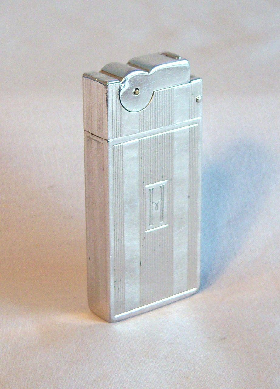 A.S.R. Monogrammed Chrome Pocket Lighter Circa 1948