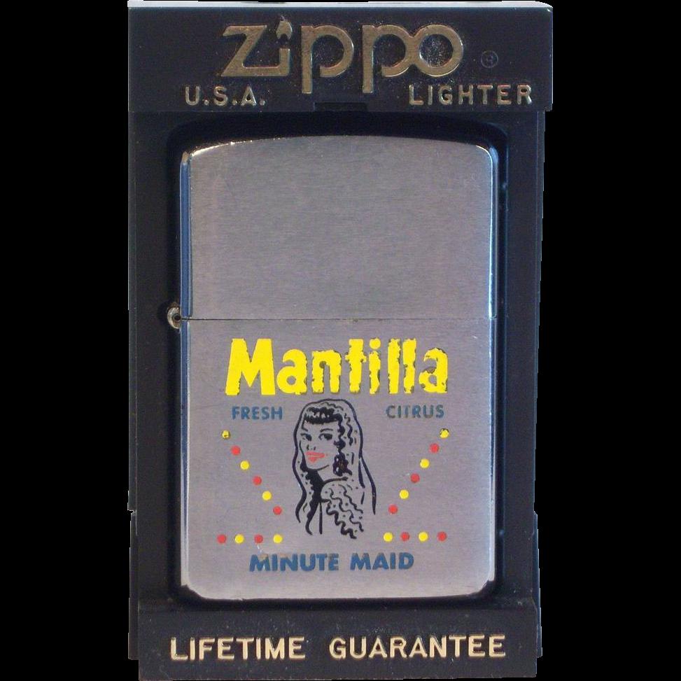 ZIPPO Minute Maid Mantilla Advertiser in  Four Color 1960