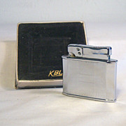 Vintage KBL 400 Chrome Pocket Lighter NIB 1960's