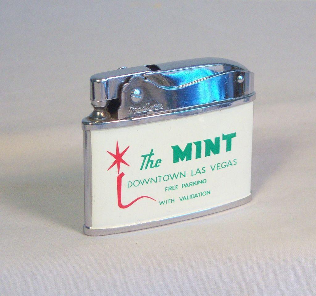 The Mint Las Vegas Japanese Flat Pocket Lighter Ca 1957