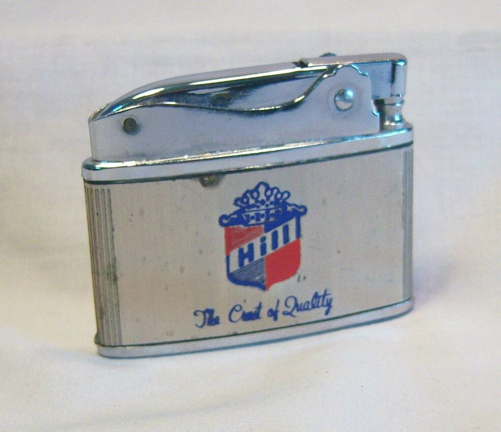 Vintage Japanese Flat Pocket Lighter Hill Mfg. Co.1950's
