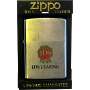 ZIPPO Pocket Lighter 1971 Advertising IDS Leasing