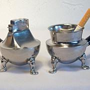 ASR Kettle Table Lighter/Holder Set Circa 1948