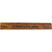 "Vintage Six inch Wooden Ruler Advertising ""The Norwich Electric Company"""