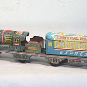 Vintage Tin Litho Friction Toy Train Japan 1950's