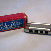 Pee Wee Toy Harmonica Charm Made in Occupied Japan