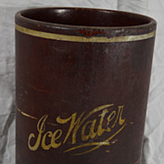 Vintage Indurated Fibre Ice Water Bucket Bar or Kitchen