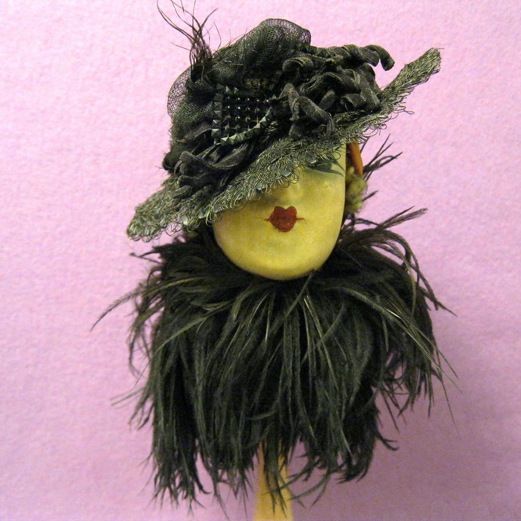 Vintage Doll Hat, Victorian Ornament