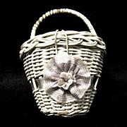 Doll's Vintage Wicker Basket Purse