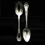 Five Gorham Sterling Coffee Spoons, POPPY Pattern