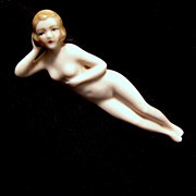 Nude Porcelain Sunbathing Doll, Germany