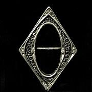 Diamond Shaped Art Deco Slide Buckle