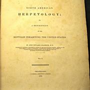 North American Herpetology, 1836, Holbrook, Vol. I