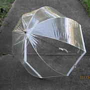 Vintage 1960's Mod Bubble Umbrella