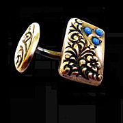 Pair of Fancy Victorian Gold filled Cuff Links