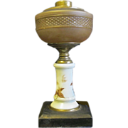 1870's Pattern and Milk Glass Kerosene/Oil Lamp Base