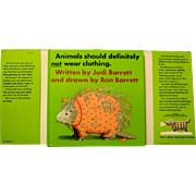"Children's Book, ""Animals Should Definitely NOT Wear Clothing"", Barrett, 1970"