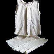 Pair of 1920's Vanta Baby Button-up  Knit Undershirts