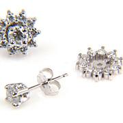 Earring Jackets - Diamond Earrings - Half Carat Diamond Earrings - Earrings - Round Diamond Earrings