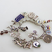 20 Sterling Charms and Bracelet, Some Mechanical and Unique