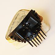 SALE Victorian Hair Comb with Original Box, Circa 1865